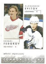 02/03 UD ARTISTIC IMPRESSIONS COMMON GROUND Hockey (#CG1-CG22) U-Pick from List