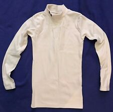 Under Armour COLDGEAR long-sleeve WHITE compression MOCK NECK boys SHIRT youth M
