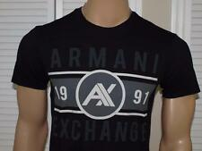 Armani Exchange Authentic Wide Band Logo T Shirt Black NWT