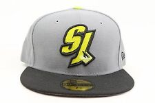 San Jose Sharks Gray Black Neon Yellow White NHL New Era 59Fifty Fitted Hat Cap