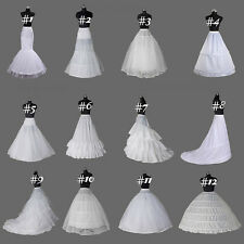 White Crinoline/Petticoat/Slips/Underskirt A Line/Mermaid Hoops Wedding Dresses