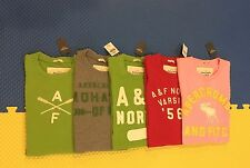 NWT ABERCROMBIE & FITCH MEN MUSCLE FIT EMBROIDERED LOGO TEE  T SHIRT LARGE SIZE