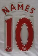 SPORTING ID PREMIER LEAGUE FOOTBALL SHIRT PRINTING ANY NAME & NUMBER IN RED