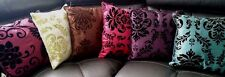 "CUSHIONS  COVERS FLOCK DAMASK CUSHION COVERS OR FILLED CUSHION 18""X 18"""