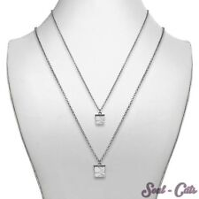 Chain with Stone dice white Metal stone Necklace Necklace Ehtno