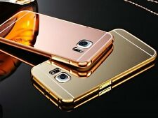 Slim Aluminum Bumper Metal PC Mirror Back Cover Case For Various Mobile Phone