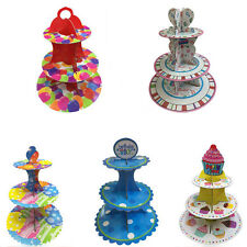 New 3 Layer Cupcake Round Cake Stand Wedding Birhtday Party Decoration