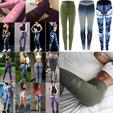 Womens Workout Legging Yoga Gym Running Fitness Sports Trouser Training Pants