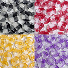 20/100/200pcs Mixed Gingham Round Plastic Buttons Lot 11MM Craft Sewing Cheaply