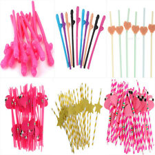 Wedding Birthday Beach Party Hen's Night Cocktail Drinking Straws Party Props