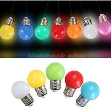 AC 220V 1/2/3W E27 G45 Bulb Round LED Golf Ball Screw Cap Lamp Light 7 Colors
