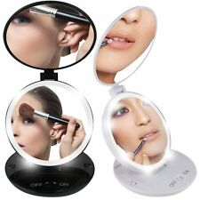 Portable 1X 5X Magnifying LED Lighted Makeup Stand Mirror Cosmetic Vanity Mirror