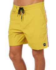 New Banks Men's Britany Mens Boardshort Cotton Fitted Yellow
