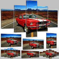 New Canvas Picture Wall Tattoo Art Print Framework Ford Mustang Classic Car