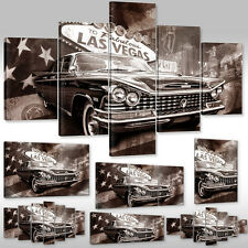 Canvas picture Wall Tattoo Art Print Cars Welcome to Fabulous Las Vegas New