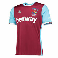 Umbro West Ham United Adult Mens Home Kit Football shirt top Hammers 2016/2017