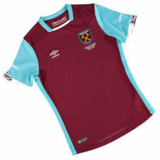 Umbro West Ham United Junior Kids Home Kit Football shirt top Hammers 2016/2017