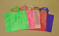 16x15x6 Frosted Plastic Loop-handle Shopping Party Gift Tote Bag Assorted Colors