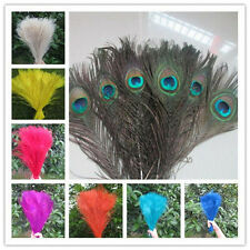 10/50pcs Peacock Tail Eyes Feathers 10-12Inches /25-30cm wedding DIY Decoration