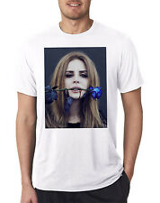 Lana Del Rey Cool Mens Stylish Sexy Indie Pop Music Blue Rose Thorn T-Shirt