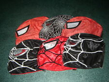 LOT 6 KIDS SPIDER-MAN RED and BLACK WRESTLING MASK niños FREE SHIPPING