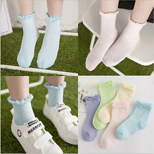 Girls Lace Mesh Cotton Socks For Kids Socks Children Short Socks 5pairs/lot CA