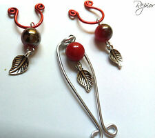 HandMade Intimate Sexy Clit Clip & Nipple Ring Jewelry Body Set Non Piercing
