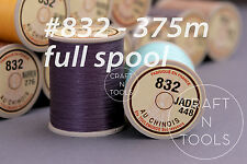 "Sajou Fil au Chinois ""Lin Cable"" Waxed Linen Thread Full Spool #832 0.43mm Cord"