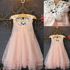 Flower Girls Princess Dress Kids Baby Party Pageant Lace Tulle Tutu Dresses Top