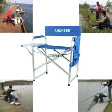 Folding Aluminum Directors Chair w/ Side Table Outdoor Fishing Outdoor ship fast