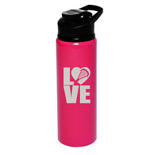 25oz Aluminum Sports Water Bottle Travel LOVE Lacrosse