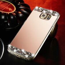 Bling Diamond Soft Case Mirror Cover For iPhone Samsung LG Huawei Phones R