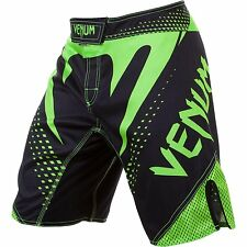 Venum Hurricane Fight Shorts - Black/Neon Green MMA/BJJ