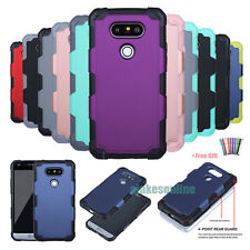 Heavy Hybrid Rugged Impact Rubber Matte Protective Hard Case Cover For LG G5