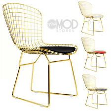 Wire Side Chair Gold Wireback Mid Century Modern Mesh Dining Chair Golden Chair