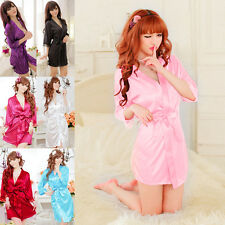 Women Sexy Lace Nightdress Sleepwear Lingerie Bathrobes Gown Kimono Robe