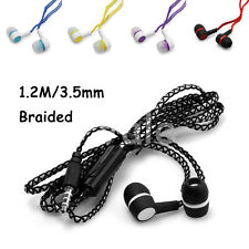 3.5mm Braided Earphone In-Ear Sport Headphone Stereo With MIC For Phone MP3 PC