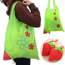 Foldable Fashion Reusable Bag Shopping Tote Bags Eco Handbag Strawberry