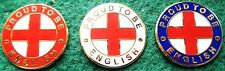 England St. George Proud To Be English Pin Badge (Red, White or Blue)