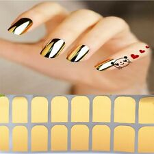 16 Pcs Armour Golden Beauty Sticker Decoration Art Patch Nail Smooth Silver