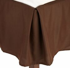 1 QTY Bed Skirt  Egyptian Cotton 1000 TC Drop 15 Inch Chocolate Solid