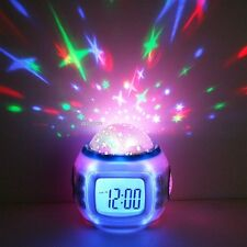 EA Music Starry Star Sky Projection Alarm Clock Calendar Thermometer Colorful01