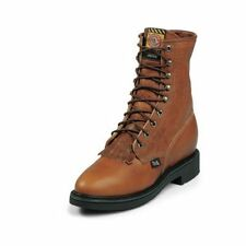 Justin Work Boots Mens Caprice Lace Up Round Toe Comfort Copper 762