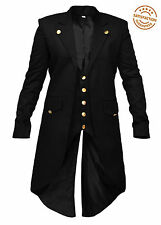 New UK Stock Wedding Party Mens Steampunk Tailcoat Jacket Gothic Victorian Coat
