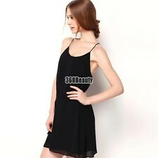 Women Fashion Elegant Casual Sexy Chiffon Round Neck Sleeveless Backless B5UT