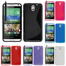 Covers case cover wallet TPU silicone gel S-Line Stylus for HTC Desire 610