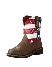 Ariat Western Boots Womens Fatbaby Heritage Toasted Brown 10020076