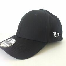 New Era 39Thirty Blank Stretch Cotton fitted Black Hat/Cap WITH LOGO