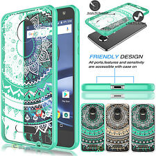 Hybrid Shockproof Armor TPU Bumper Clear Case Cover For Motorola Moto Z Droid