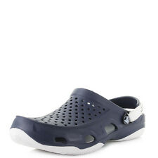 Mens Crocs Swiftwater Deck Clog Navy White Sandals UK Size